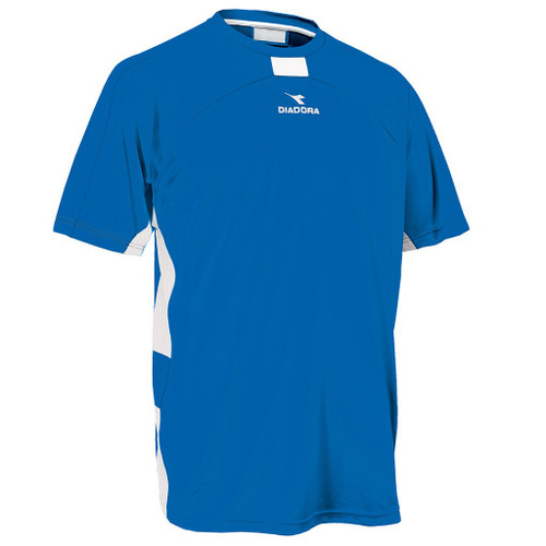 Diadora Novara soccer jersey, in royal, size Youth Large
