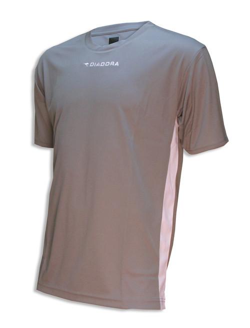 Diadora Calcio soccer jersey in silver/white
