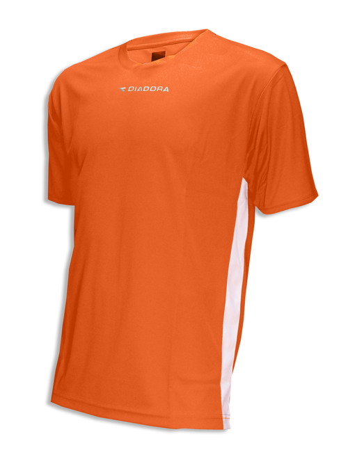 Diadora Calcio soccer jersey in orange/white