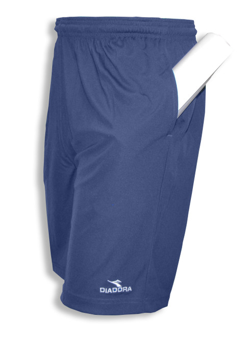 Diadora Matteo active shorts with pockets, in navy