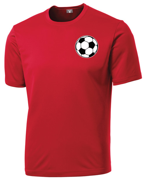 Code Four Athletics Soccer Ball Shirt, in red