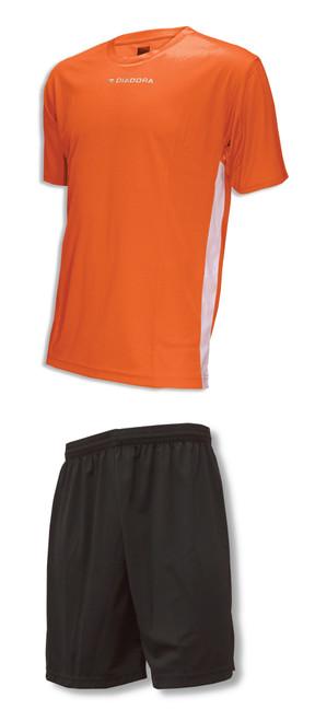 Diadora Calcio jersey in orange / Pro shorts soccer uniform kit