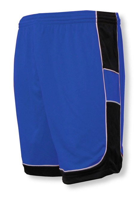 Galaxy soccer shorts in royal/black