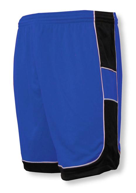 Galaxy soccer shorts in royal/black