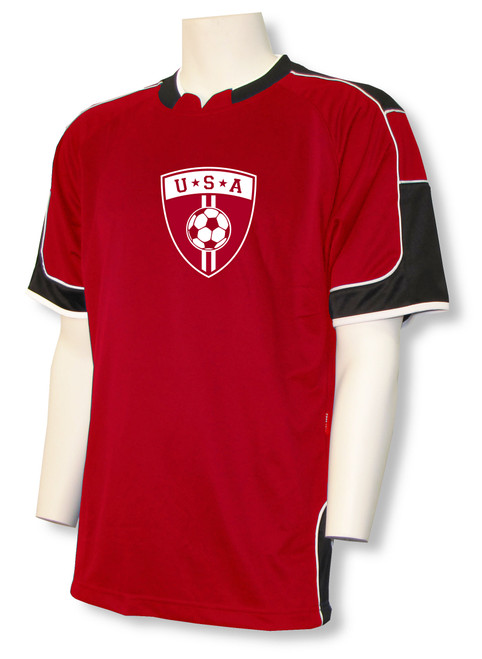 USA Soccer Jersey II, in red/black