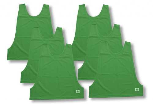 Soccer Practice Pinnies / Pennies 6-pk - in kelly