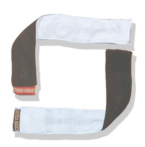 Soccer sleeve clip holders in reversible black/white