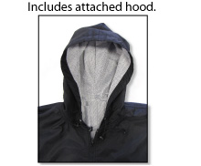 Code Four Mustang pullover jacket includes attached hood.