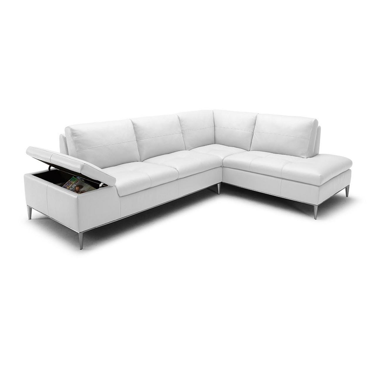 Divani Casa Gardenia - Modern White Sectional Sofa with Chaise ...