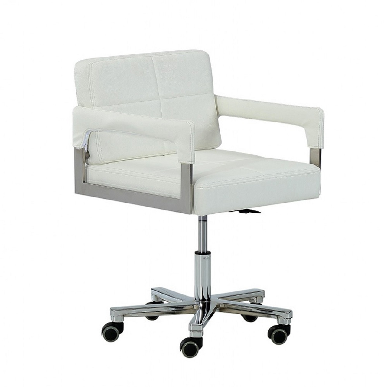 Modrest Craig Modern White Bonded Leather Office Chair Lounge La
