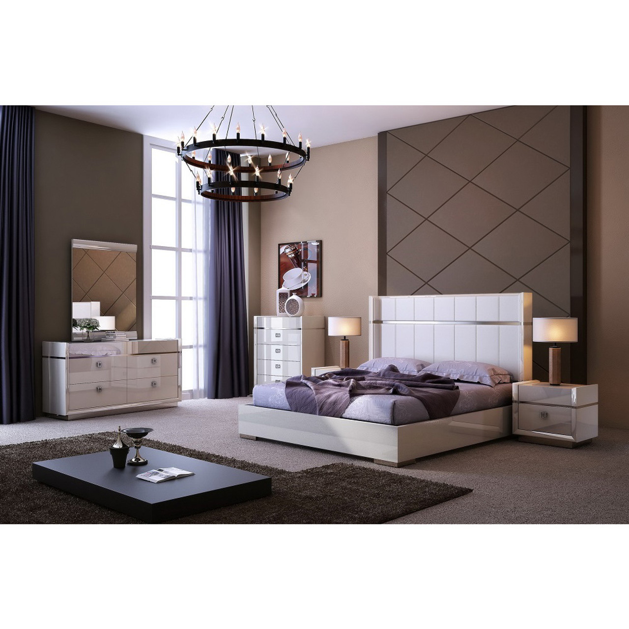 Paris Modern Platform Bedroom Set - Lounge LA