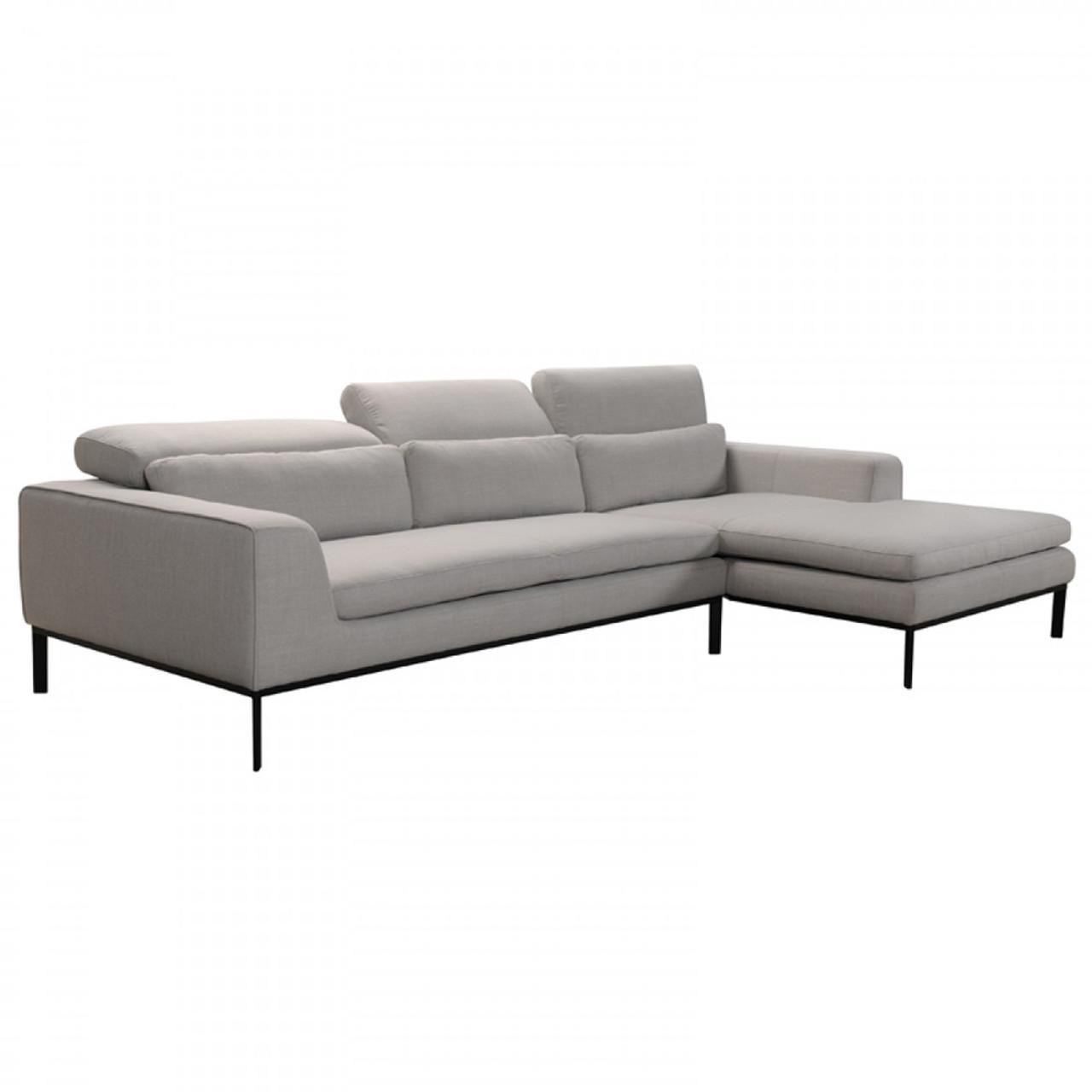 Divani Casa Clayton Modern Fabric Sectional Sofa - Lounge LA
