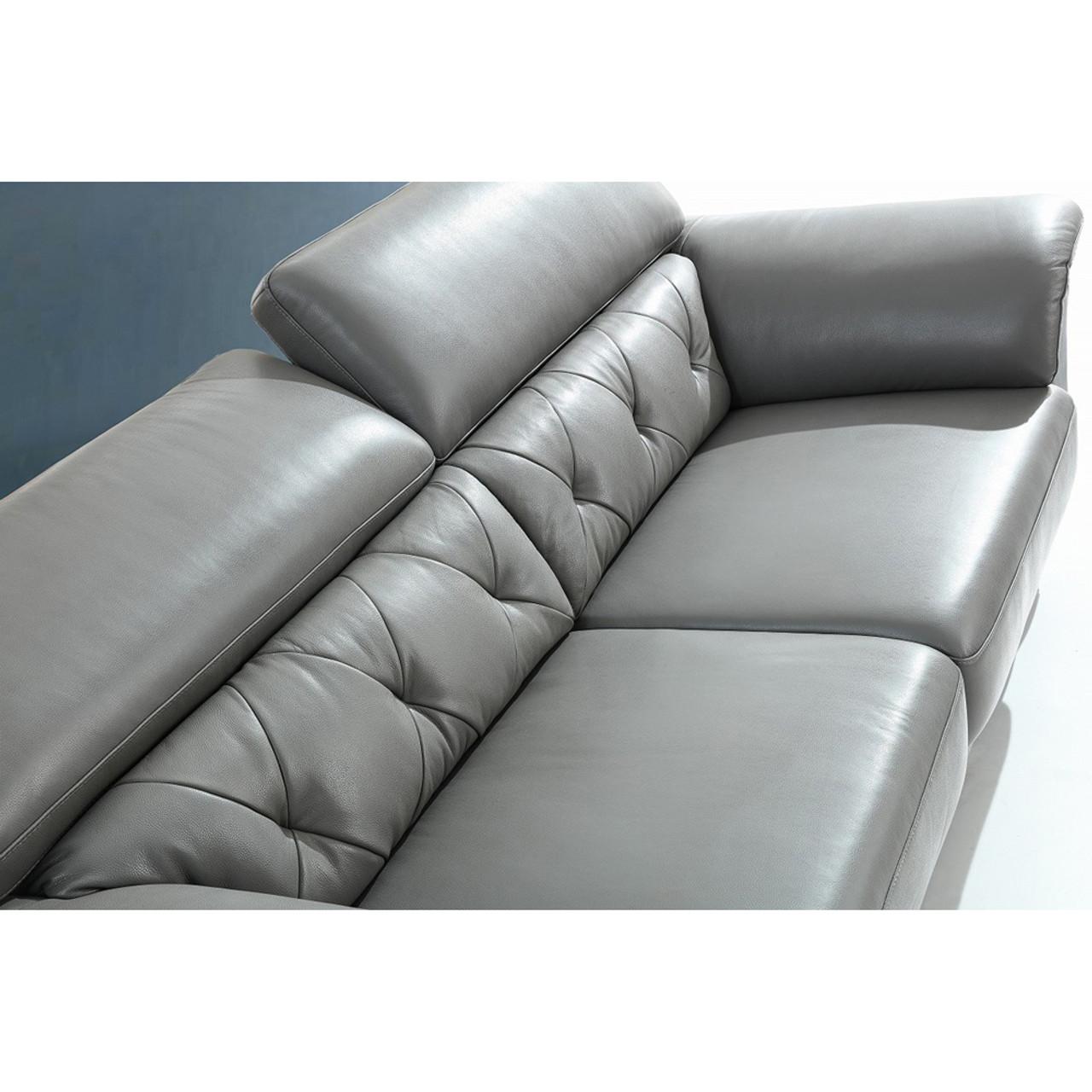 Fabulous Divani Casa Perry Modern Grey Leather Sofa Set Pabps2019 Chair Design Images Pabps2019Com