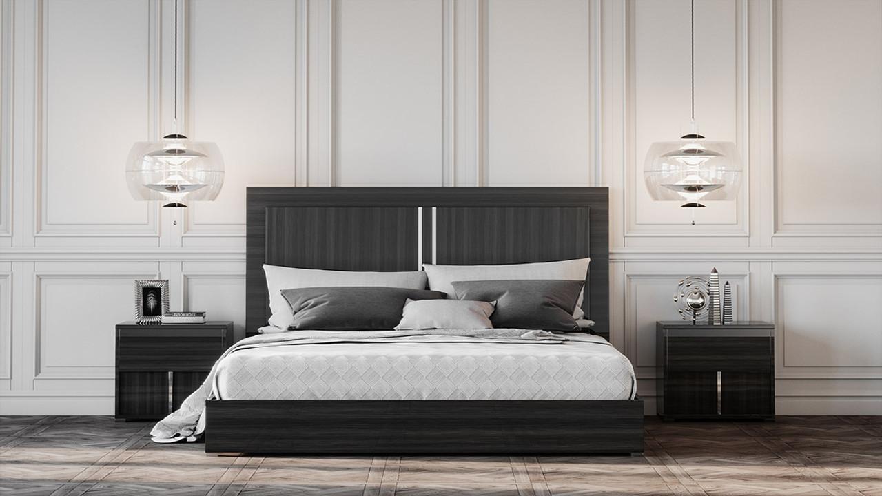 Modrest Ari Italian Modern Grey Queen Size Bedroom Set