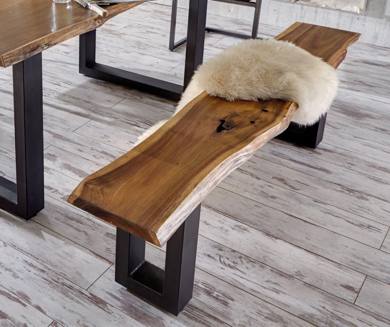Picture of: Modrest Taylor Modern Live Edge Wood Dining Bench Lounge La