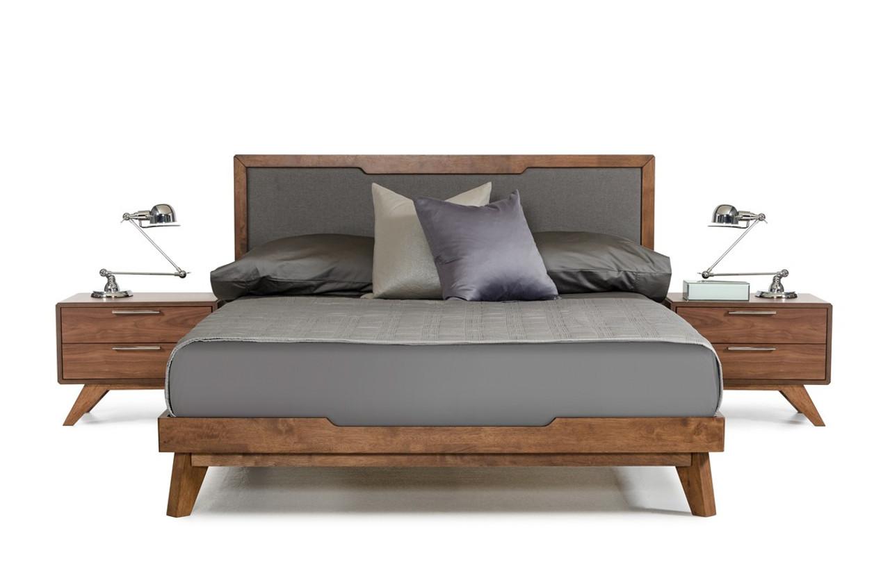 Nova Domus Soria Modern Grey Walnut California King Size Bed Lounge La