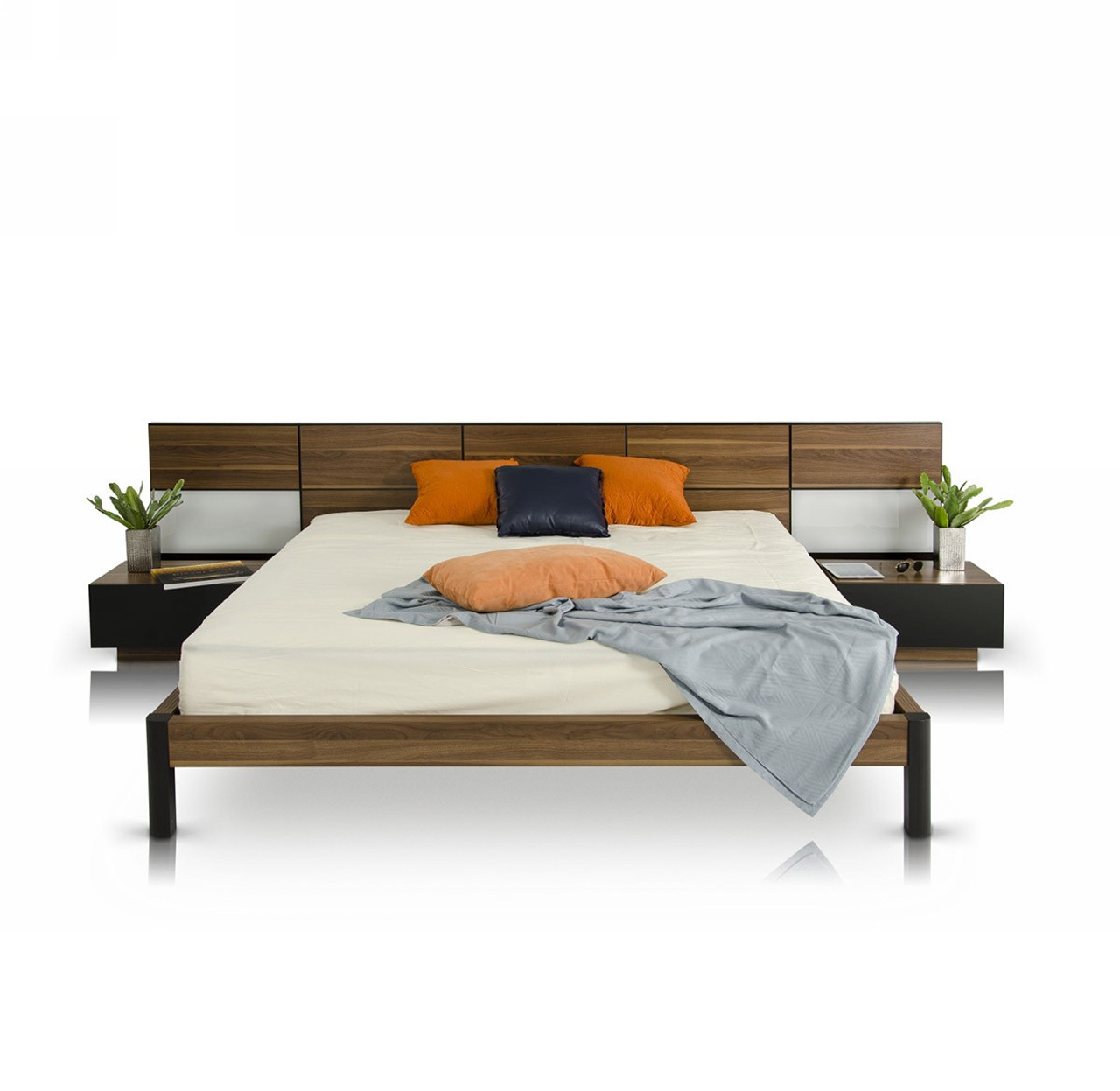 Modrest Rondo Modern King Size Bed With Nightstands Lounge La