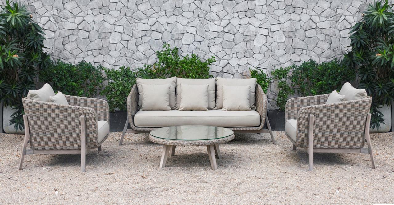 Prime Renava Carillo Outdoor Beige Wicker Sofa Set Spiritservingveterans Wood Chair Design Ideas Spiritservingveteransorg