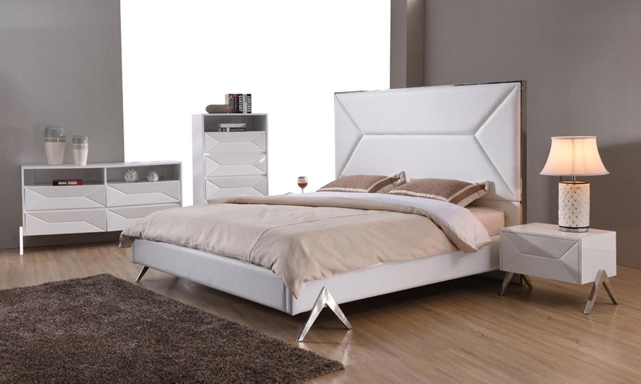 Modrest Candid Modern White Bedroom King Size Set