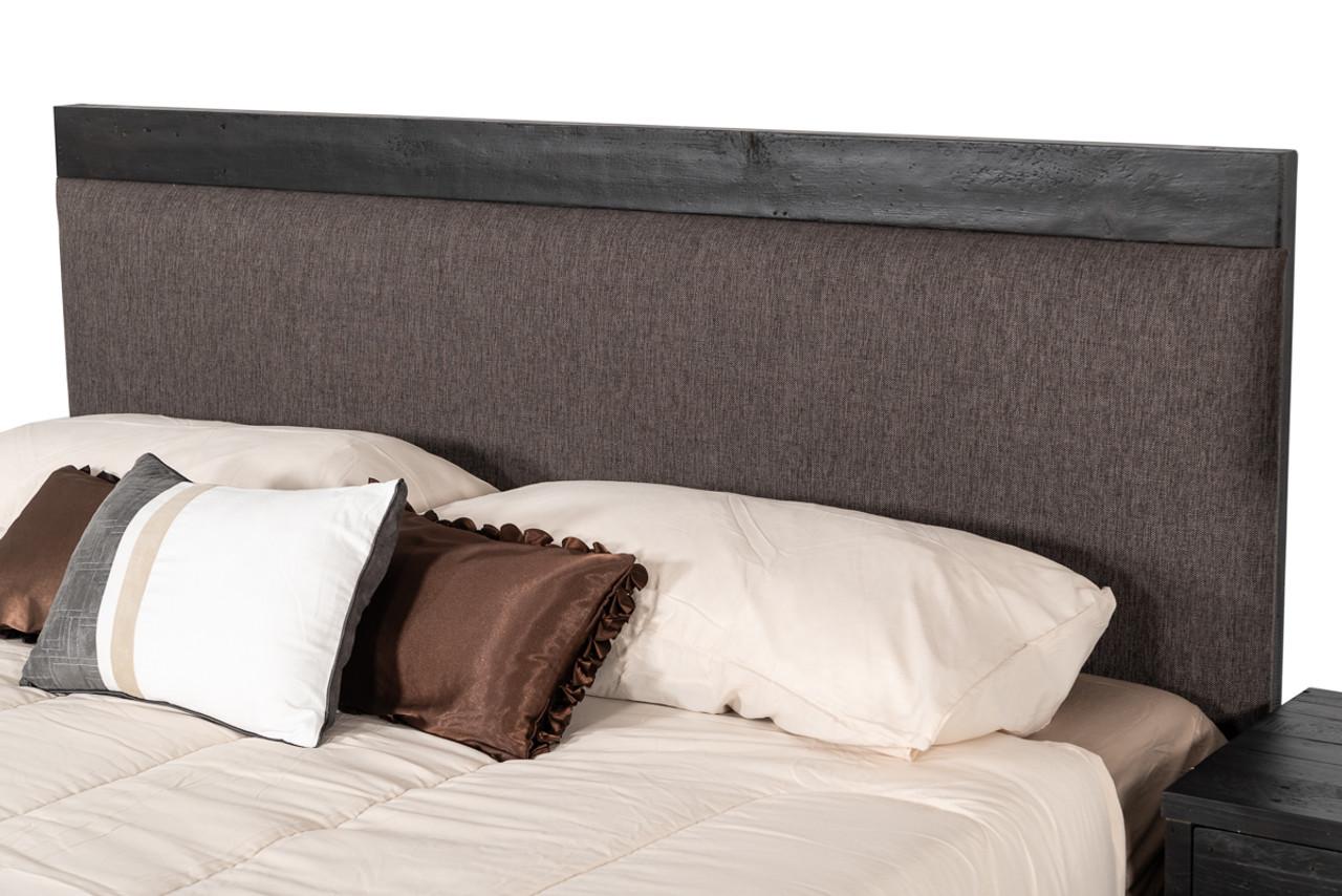 Modrest Tabitha Modern Dark Brown Recycled Pine King Bed