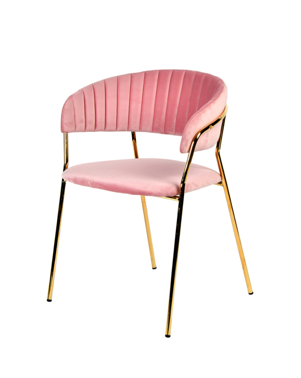 Pleasant Modrest Brandy Modern Pink Fabric Dining Chair Set Of 2 Uwap Interior Chair Design Uwaporg