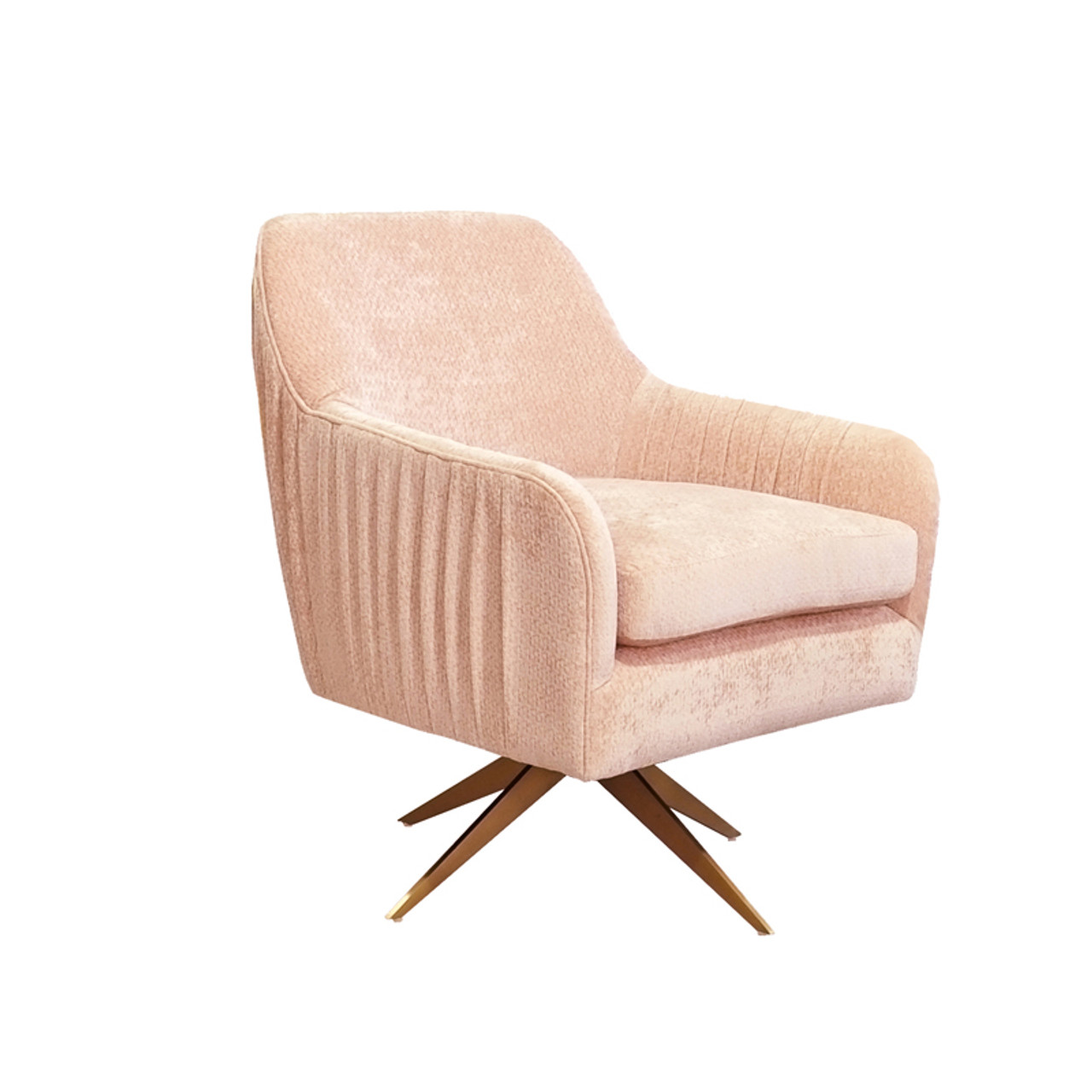 Pleasant Divani Casa Abigail Modern Pink Velvet Swivel Accent Chair Dailytribune Chair Design For Home Dailytribuneorg