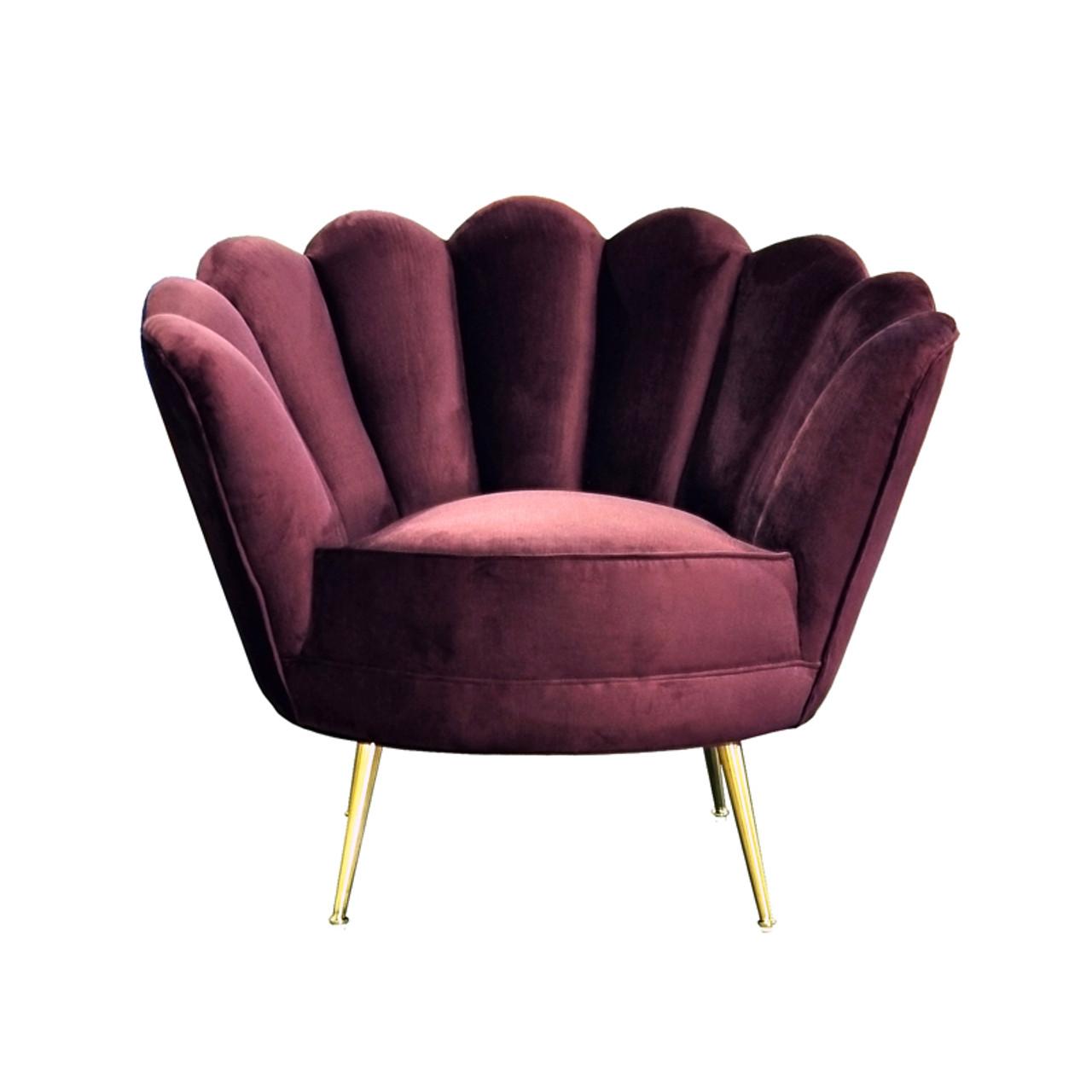 Prime Divani Casa Selva Modern Purple Velvet Accent Chair Machost Co Dining Chair Design Ideas Machostcouk
