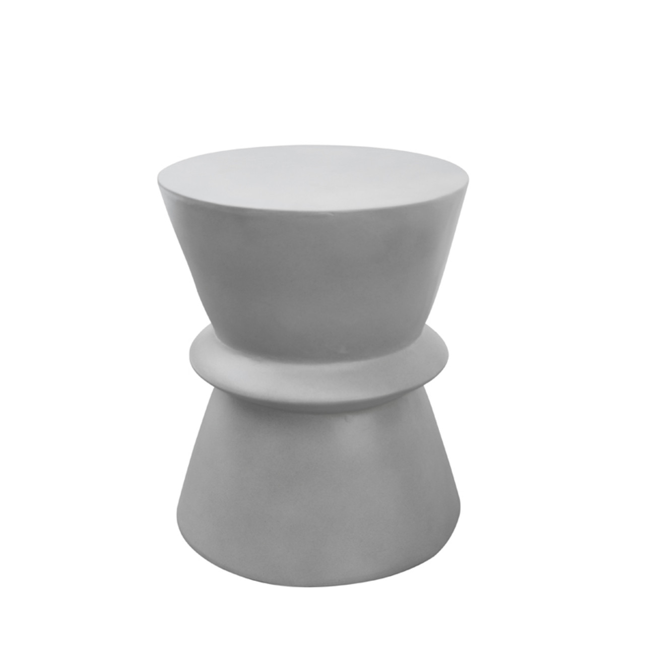 Modrest Ramos Modern Grey Concrete Round Stool Lounge La