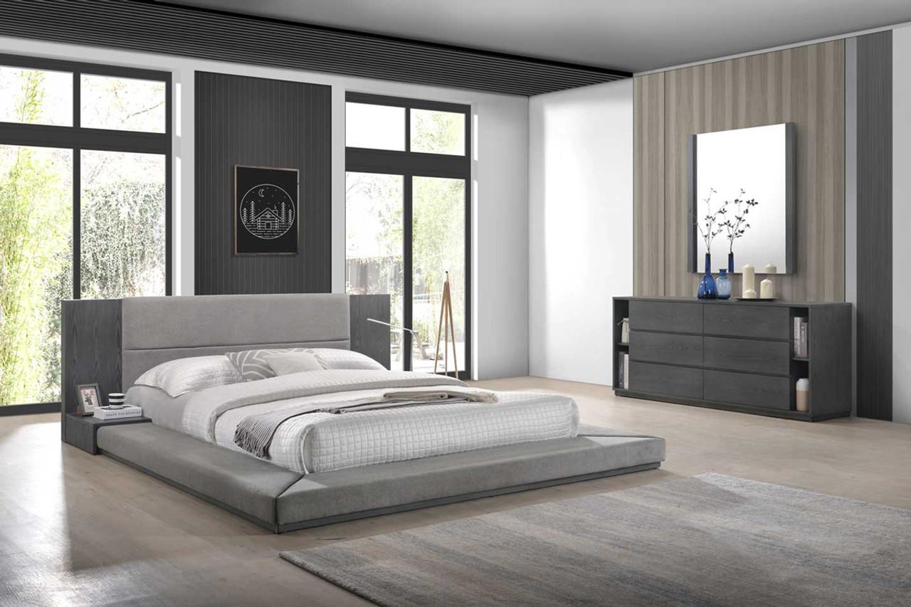 Nova Domus Jagger Modern Grey King Size Bedroom Set Lounge La