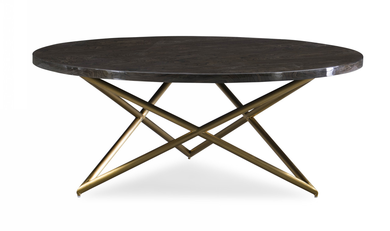 Modrest Novia Glam Black And Gold Marble Coffee Table Lounge La