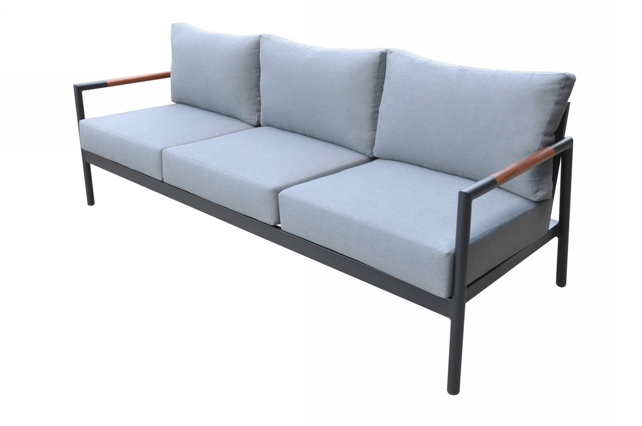 Picture of: Renava Kiowa Modern Outdoor Grey Black Sofa Set Lounge La