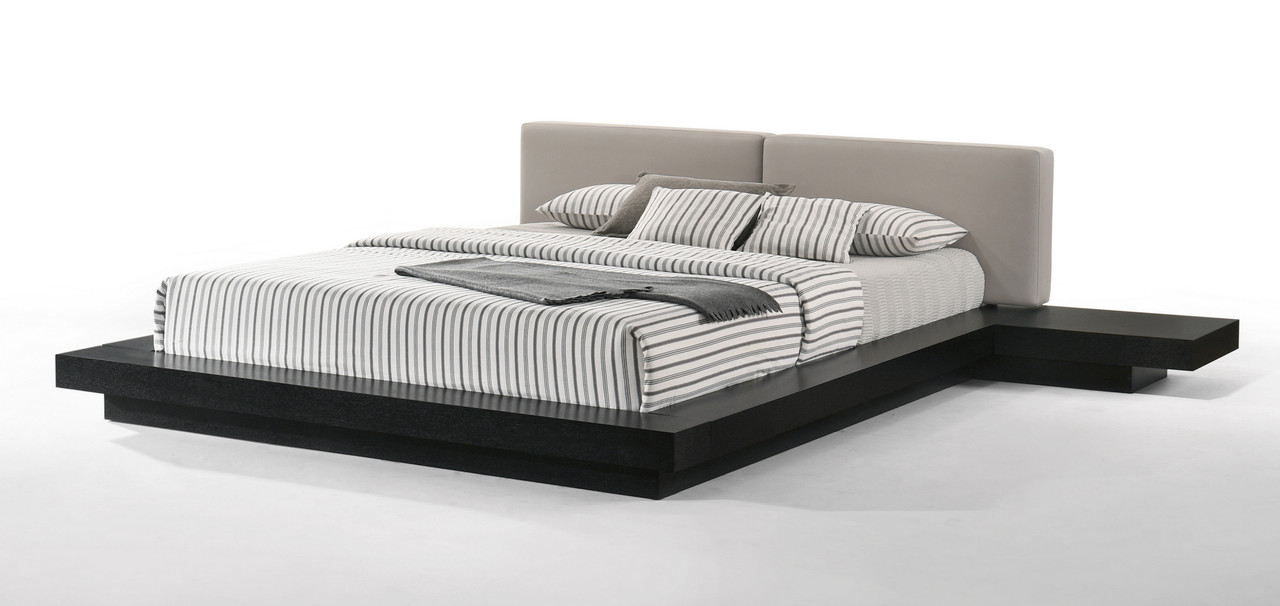 Picture of: Modrest Tokyo Contemporary Black And Grey Platform King Size Bed Lounge La