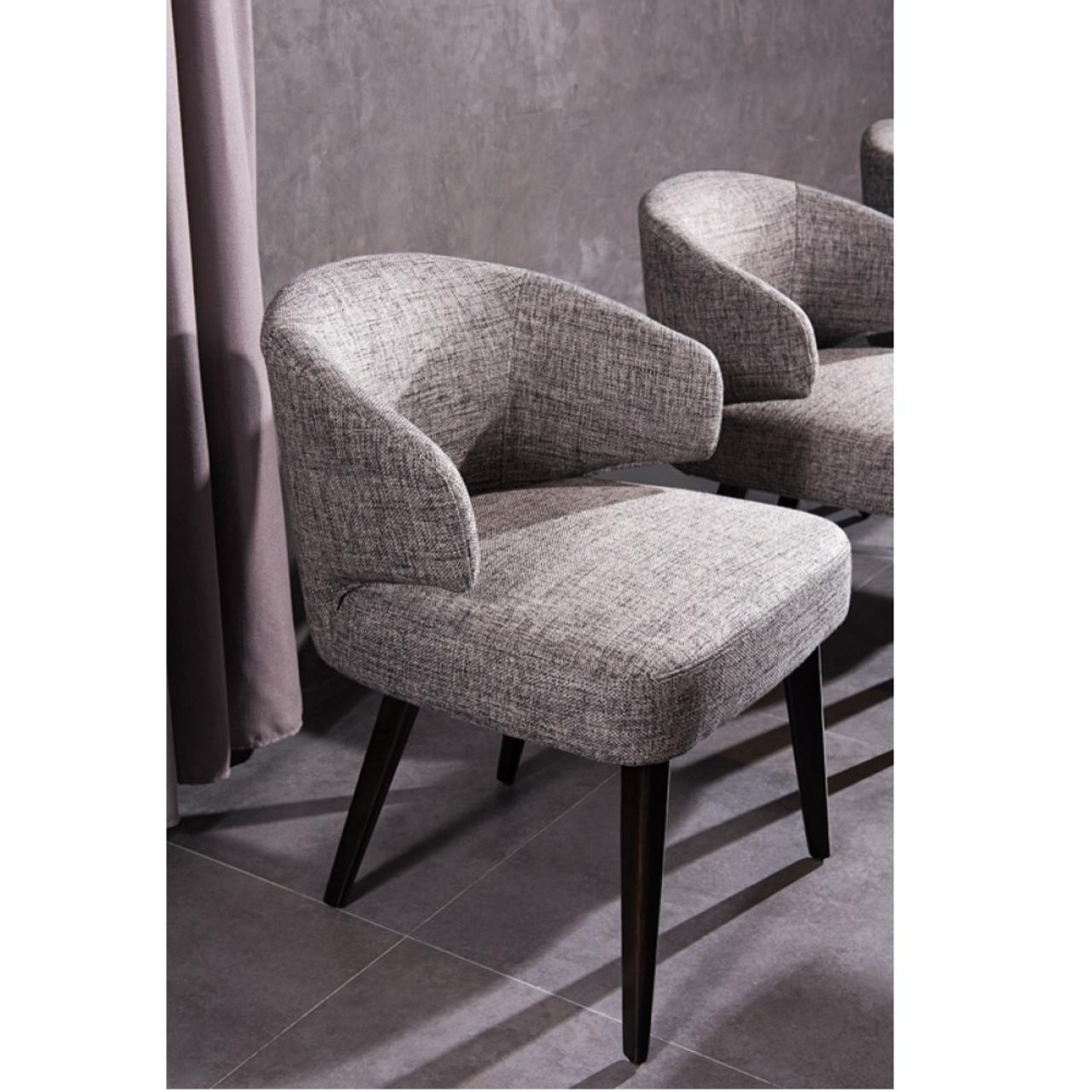 Super Modrest Carlton Modern Grey Fabric Dining Chair Bralicious Painted Fabric Chair Ideas Braliciousco