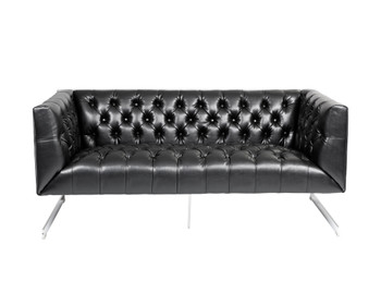 Viper Loveseat - Black Leather