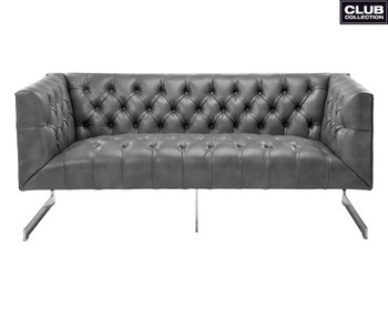 Viper Loveseat - Grey Leather