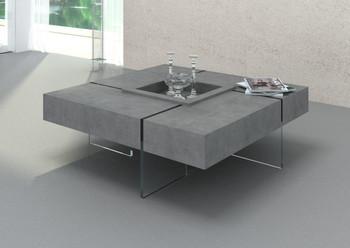 Modrest Shauna - Modern Faux Concrete Floating Coffee Table