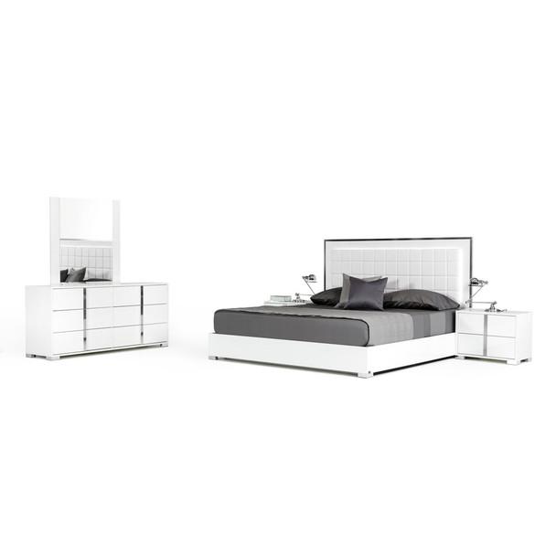 Modrest San Marino Modern White Queen Size Bedroom Set