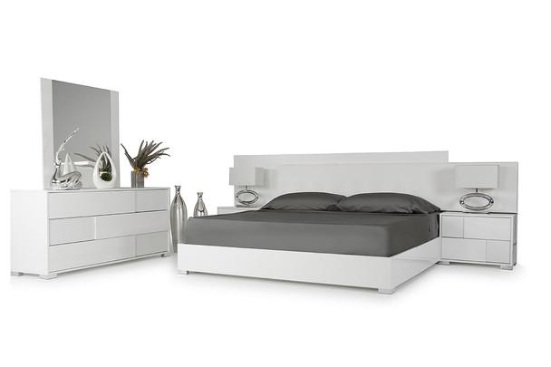 Modrest Monza Italian Modern White Queen Size Bedroom Set