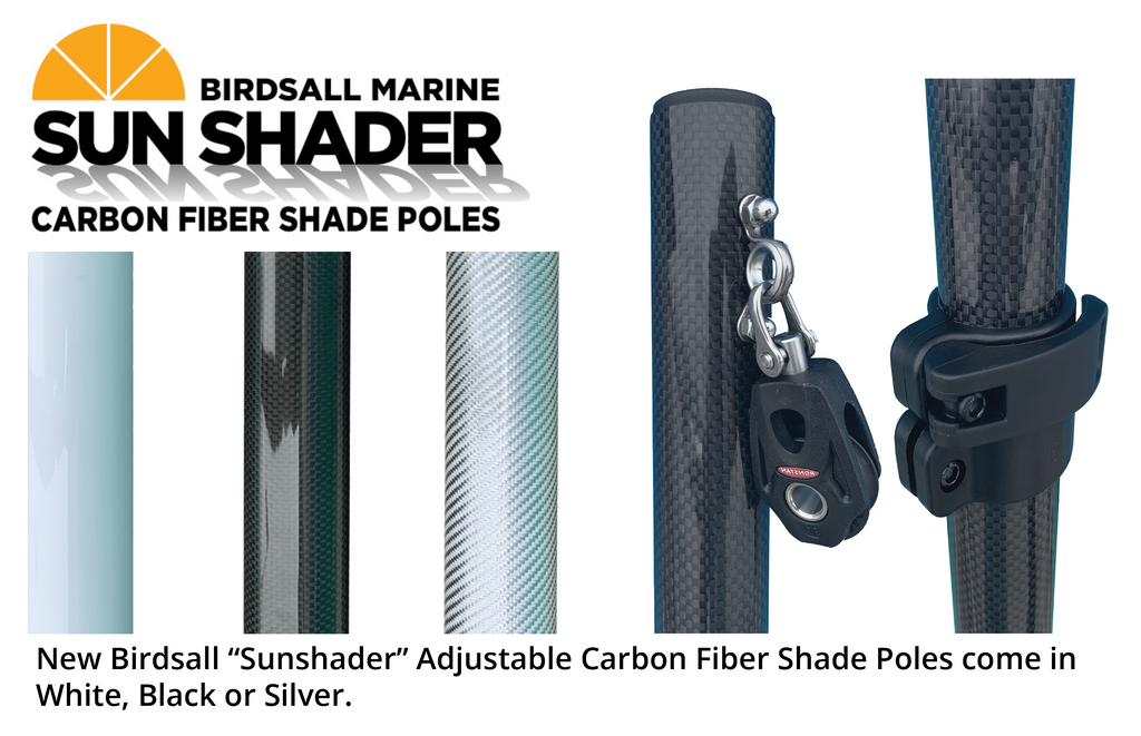 Carbon Fiber Shade Poles - Set of 2 (Only)