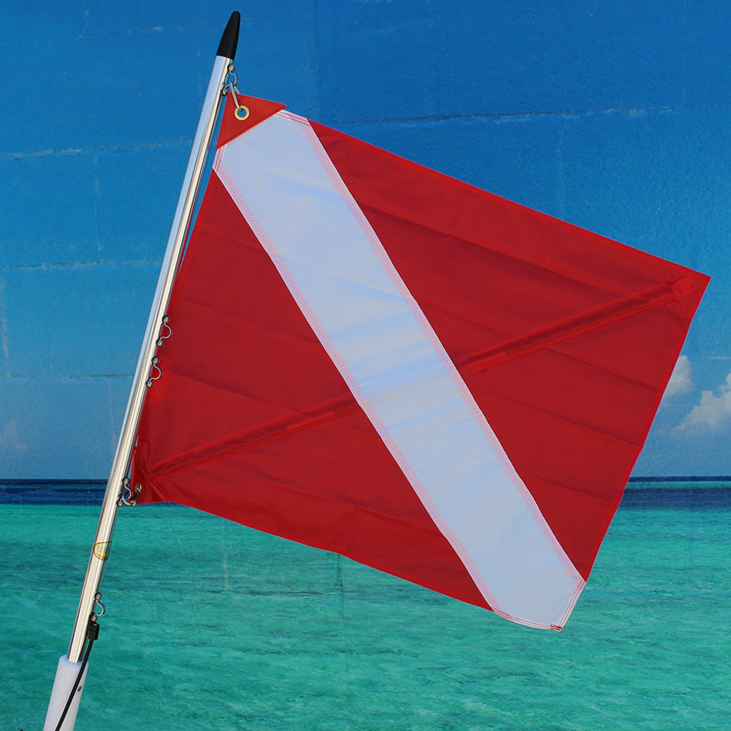 "Diver Down Flag Red Vinyl (20' x 24"")"