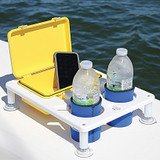 Large Dual Drink Holder with Watertight Box Combo