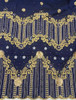 2pc Wrapper # 7 (Navy Blue) with  Blouse Piece