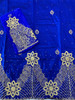 2pc Wrapper # 114 (Royal Blue) with  Blouse Piece