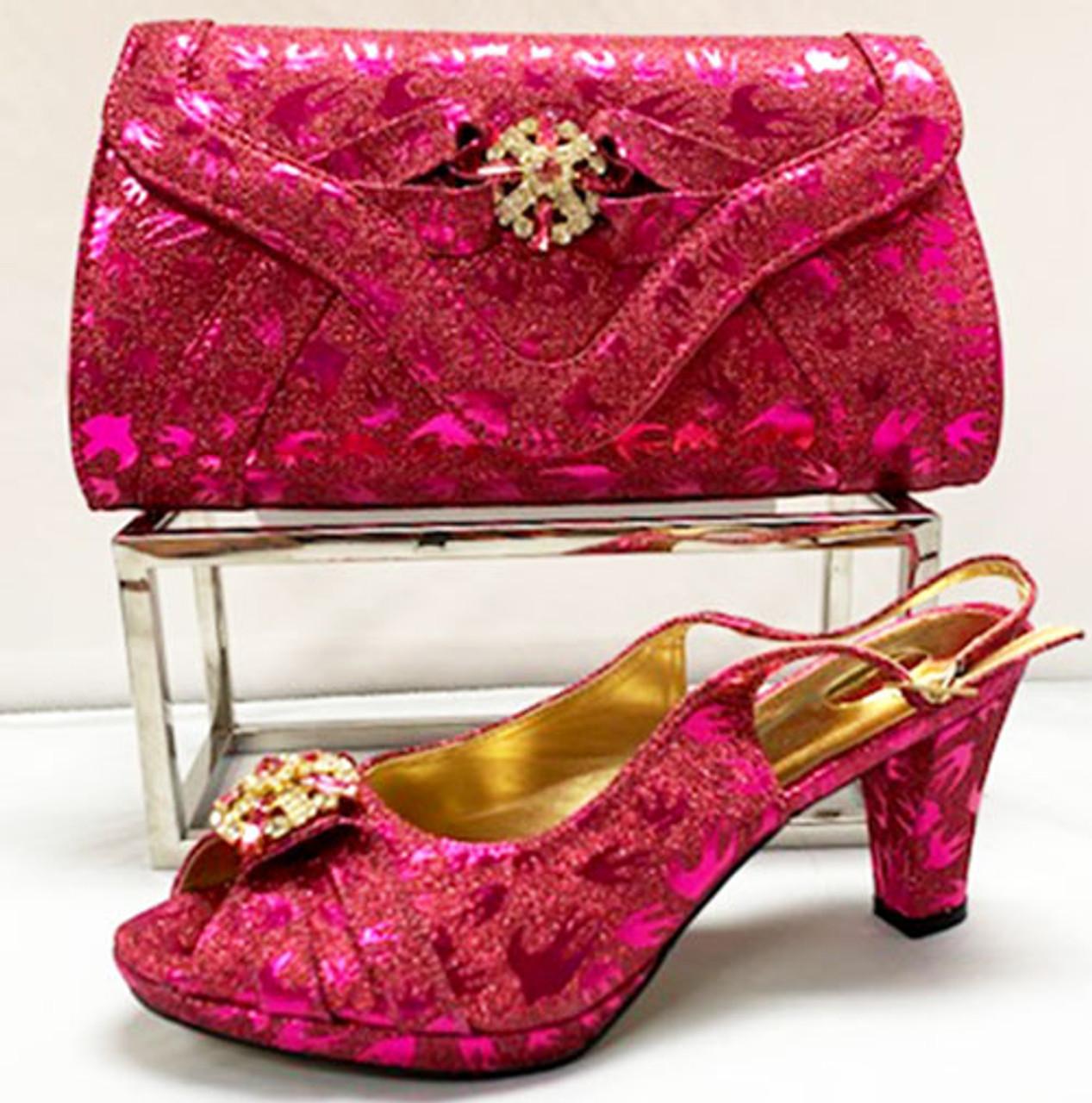 Grand Diamond Shoes \u0026 Bag # 16 (Fuchsia