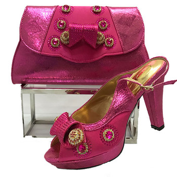Grand Diamond Shoes & Bag 46 (Fuchsia Pink)