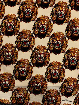 Feni Fabric # 1 Lion Head- Cream ($11 per yard)