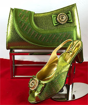 Grand Diamond Shoes & Bag 87 (Army Green)