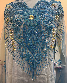 Blouse Piece # 203 (Dark Turquoise Blue)