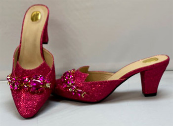 Grand Diamond Shoes #1  (Fuchsia Pink)