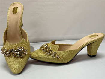 Grand Diamond Shoes # 5 (Gold)